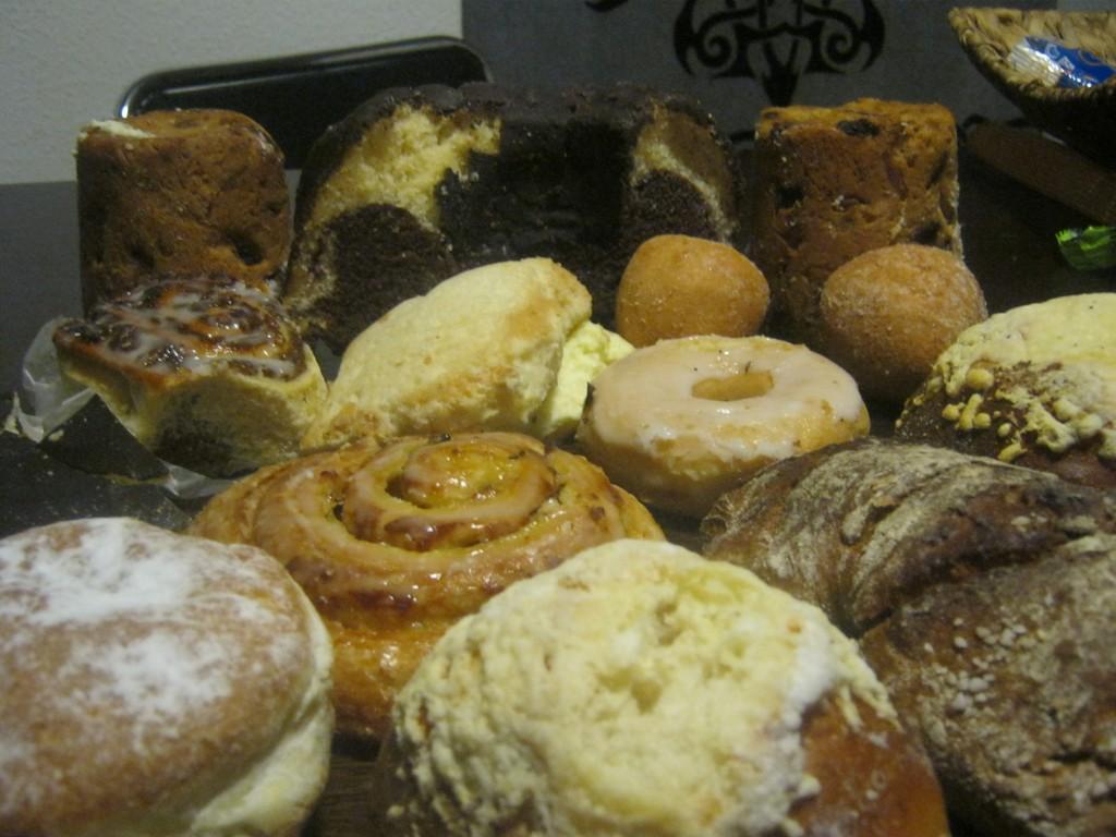 Süße Teilchen vom Bäcker